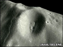 Moon's surface (Jaxa)