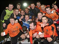 Newport County cup celebrations