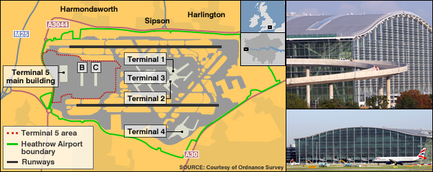 Map of Heathrow