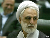 Intelligence Minister Gholam Hossein Mohseni Ejeie file picture 2005