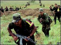 Miembros de las FARC (foto de archivo)