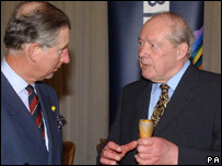 Prince Charles and Alun Hoddinott