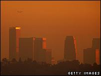 Smog over Los Angeles (image from November 2006)