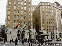 Отель Mayflower в Вашингтоне, где Элиот Спитцер якобы встречался с проституткой