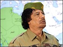 Libyan leader Muammar Gaddafi 29/01/2008