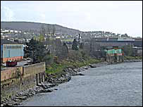 The development site next to the River Neath