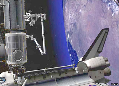 Artist's impression of Dextre at work (Nasa)