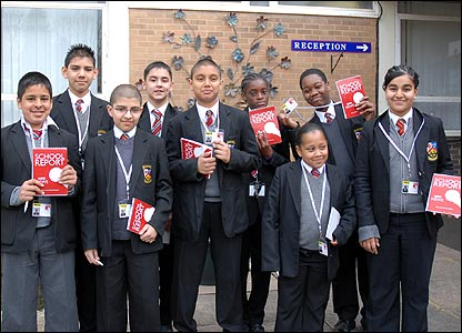School Report Team of Saint John Wall Catholic School in Handsworth, Birmingham