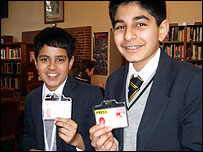 Chigwell School pupils