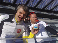 Adrian Chiles and Alan Shearer pack all the essentials for their Sport Relief challenge