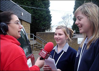 Stacey and Meghan from Rainham School for Girls