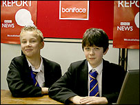 Boys at St Boniface's College present their reports