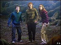 Daniel Radcliffe, Rupert Grint y Emma Watson, protagonistas de Harry Potter.