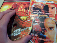 Pirate DVD copies of Spiderman 2
