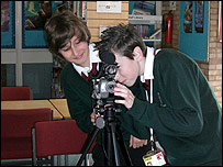 Simon Balle school pupils filming