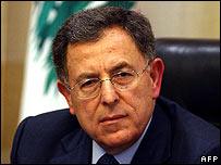 Lebanese Prime Minister Fouad Siniora