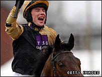 Denis O'Regan celebrates success on Inglis Drever
