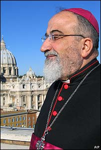 Archbishop Paulos Faraj Rahho at the Vatican, November 2007