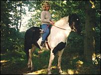 Davina Bowyer riding Maggie