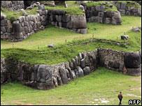Sacsayhuaman's zig-zag ruins