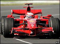 Kimi Raikkonen's Ferrari at Melbourne's Albert Park