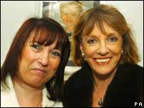 Denise Fergus with Esther Rantzen