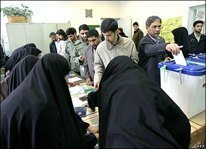 Voting in the Iranian elections
