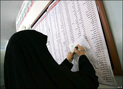 Iranians voting in their parliamentary election