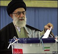 Ayatollah Ali Khamenei voting (14/03/08)