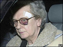 Judge Ann Goddard after the attack in 2001