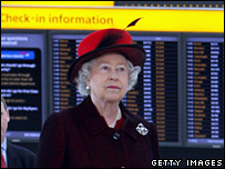 Queen at Heathrow