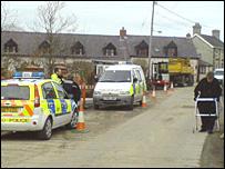 Police at Pontrhydfendigaid