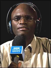 BBC presenter Farayi Mungazi