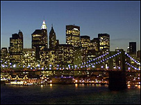 New York at night (Image: BBC)