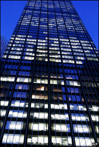 Office block at night (Image: AP)