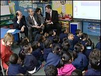 Children learning phonics