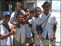 Children on the island of Nauru