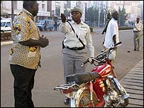 Traffic police in Burkina Faso