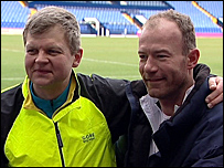 Adrian Chiles and Alan Shearer at The Hawthorns