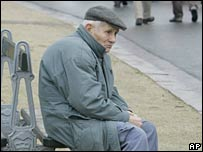Old man sitting on a bench (file photo)