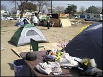 Tent City, southern California, 13 March 2008