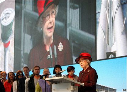 Queen speaks at ceremony