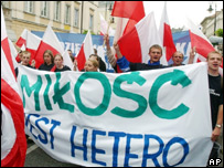 Демонстрация движения Всепольская молодежь в Варшаве