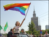 Участница Парада равенства в Варшаве