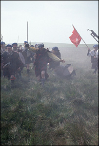 Reconstruction of the Battle of Culloden for the BBC's Battlefield Britain series