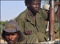 Chadian rebels - file photo