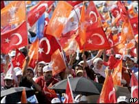 AKP supporters. File photo