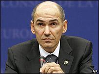 Slovenian PM Janez Jansa, 13 March 2008