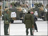 Полиция на улицах Лхасы