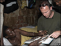 Alan Shearer in Uganda